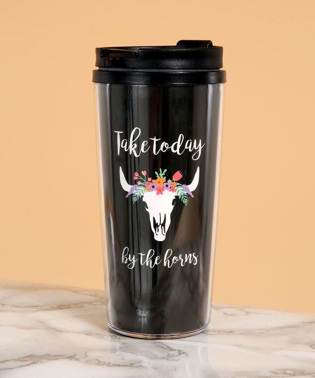 take today by the horns travel mug, BLACK, hi-res