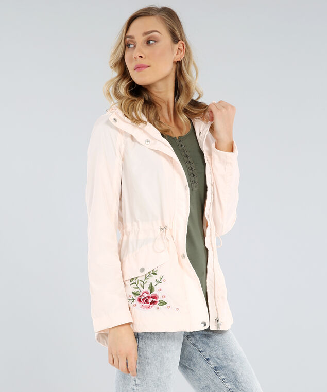 floral embroidered anorak - wb, BLUSH, hi-res