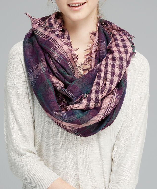 double faced eternity scarf, MAUVE, hi-res