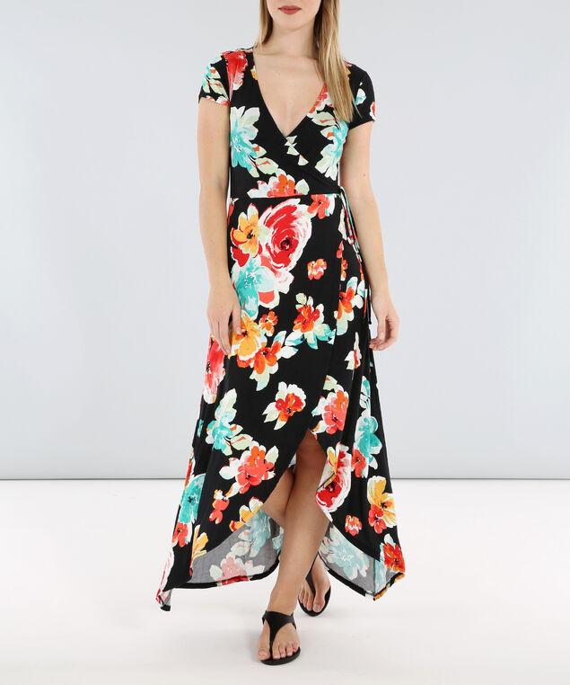 floral print maxi - wb, BLACKFLORAL, hi-res