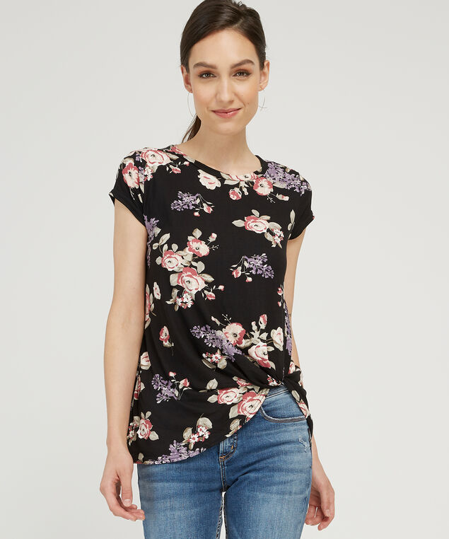 front twist top - wb, BLACK FLORAL, hi-res