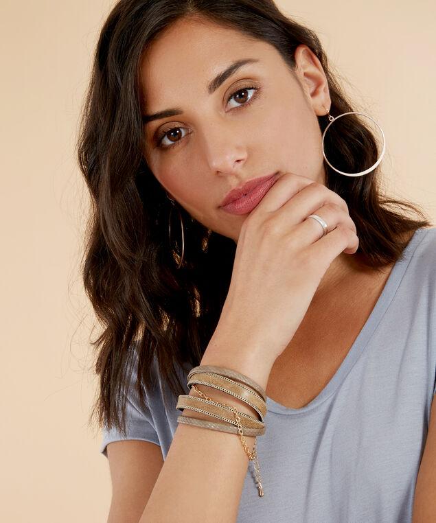 taupe multi strap bracelet, TAUPE, hi-res