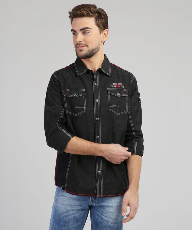 button-down shirt - wb, BLACK, hi-res