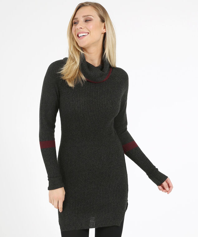 sweater dress - wb, GREY TWIST, hi-res