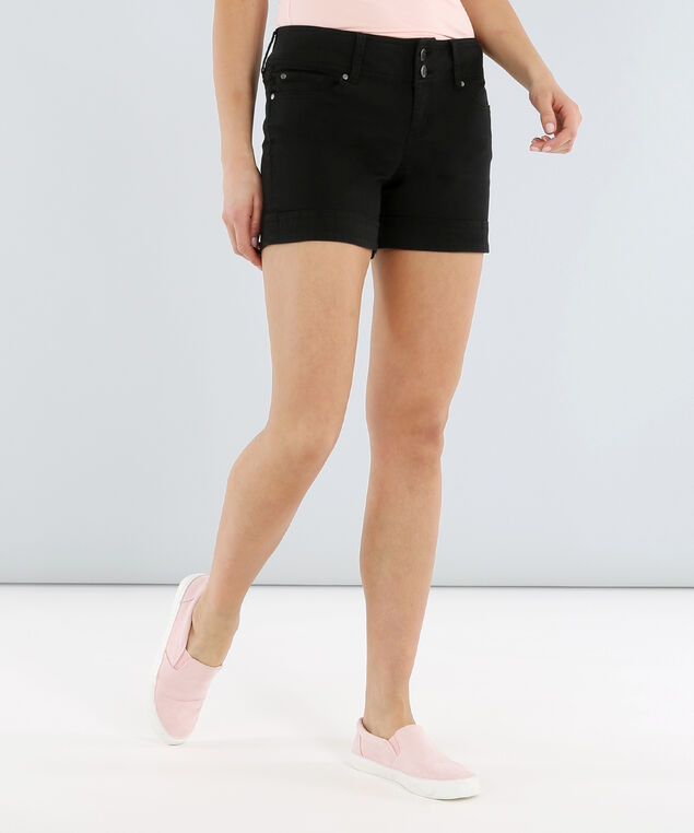 colour midi short su18, BLACK, hi-res