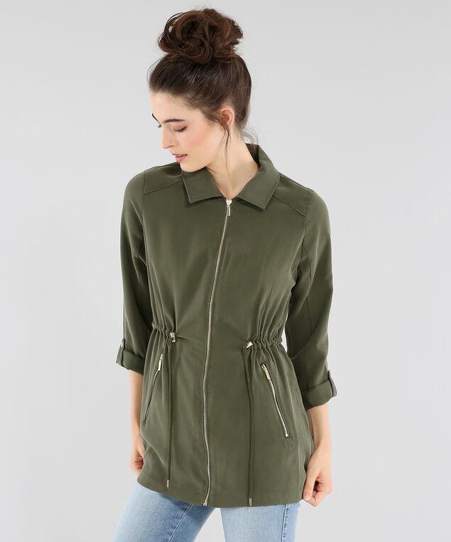 caprice soft jacket, OLIVE, hi-res
