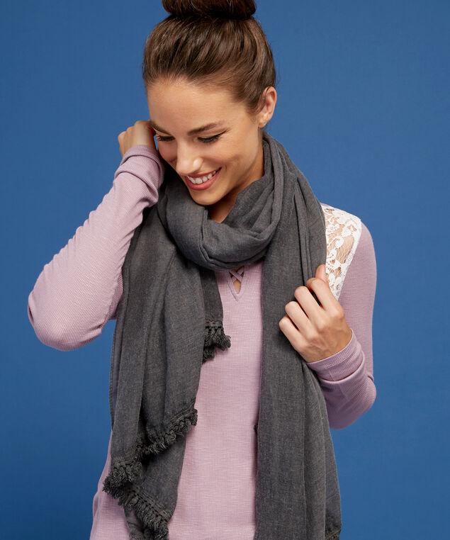 charcoal scarf, CHARCOAL, hi-res