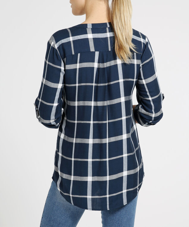 ramona, NAVY PLAID, hi-res