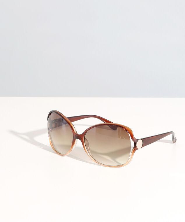classic round sunglasses, BROWN, hi-res