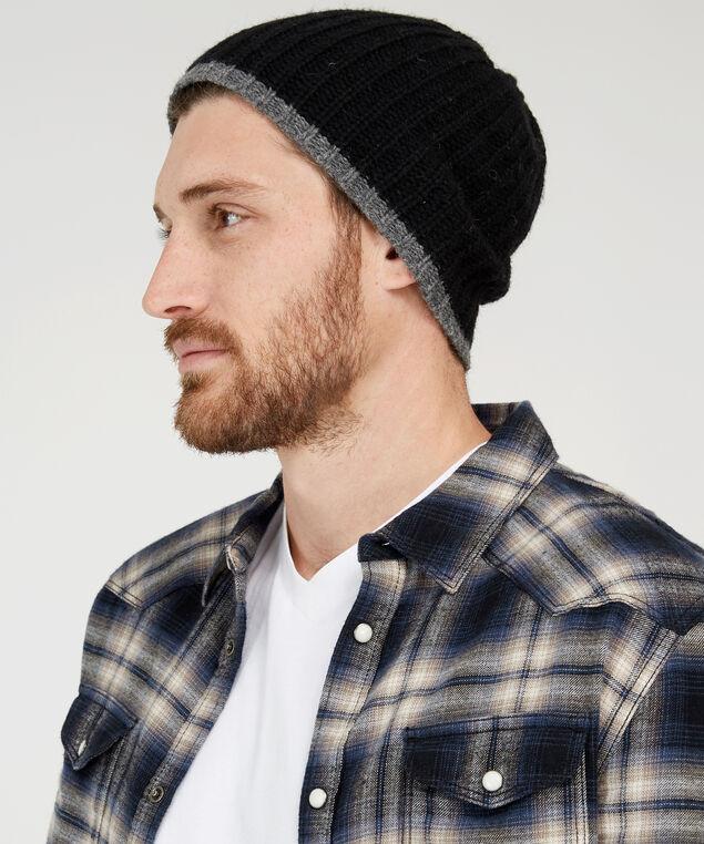 knit hat, BLACK, hi-res