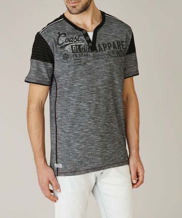 henley tee graphic - wb, CHARCOAL, hi-res