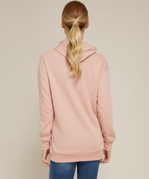 long hooded pullover with pocket - wb, BLUSH, hi-res