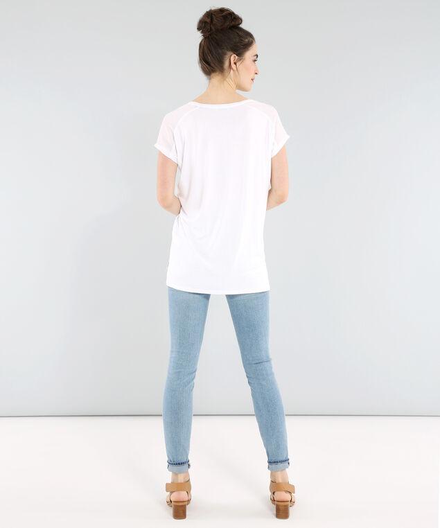 v-neck tee with zipper pocket - wb, WHITE, hi-res