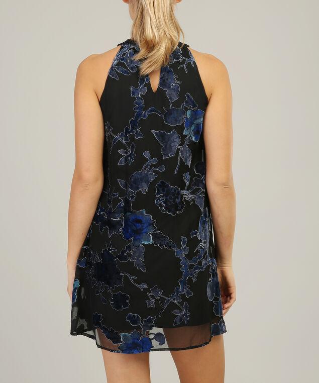 velvet burnout dress - wb, MULTI, hi-res