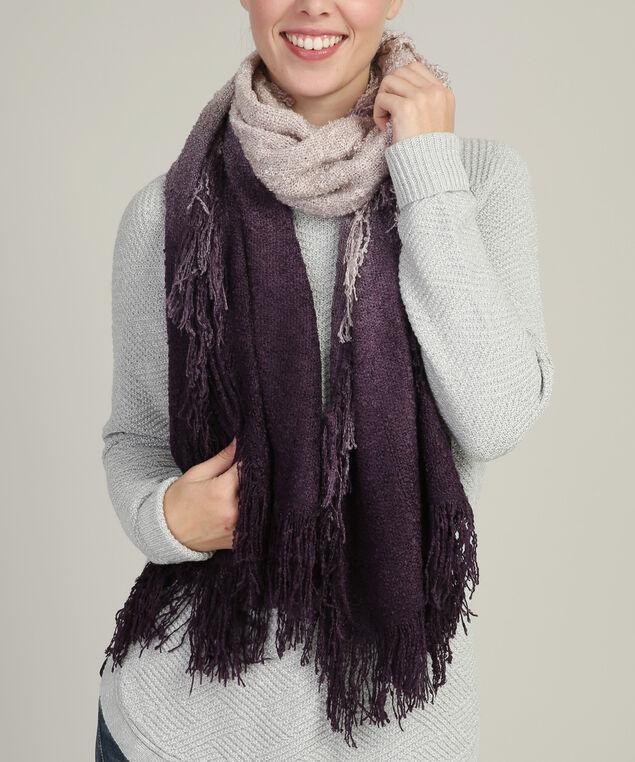 gradient colour nubby scarf, PURPLE MIX, hi-res