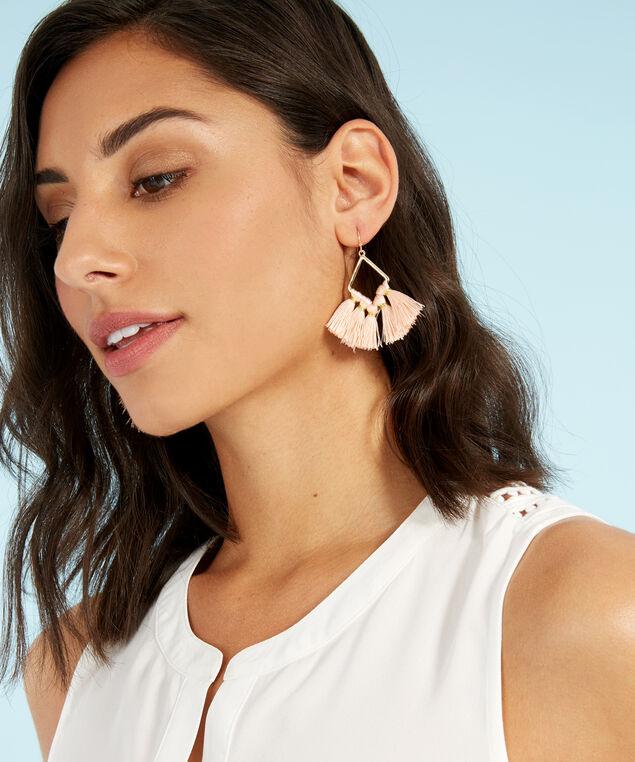 gold tassel earrings, GOLD, hi-res