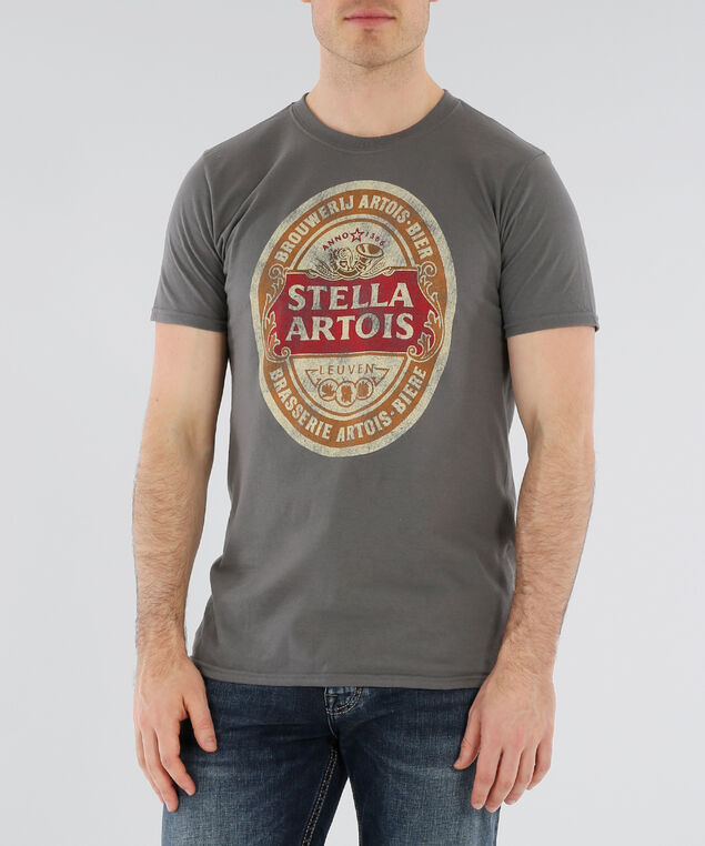 stella artois graphic tee, CHARCOAL, hi-res