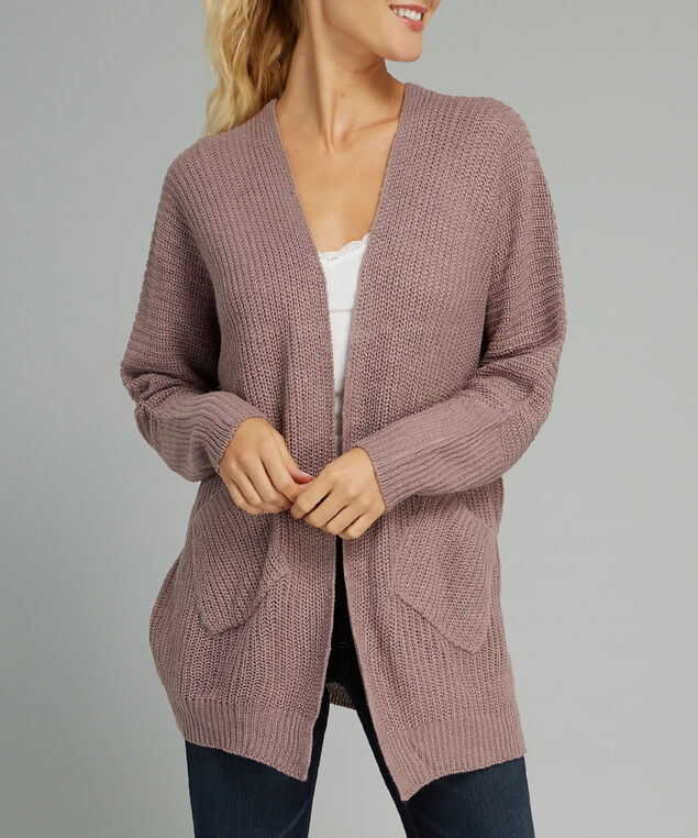 cardigan with slanted front pockets - wb, QUAIL, hi-res