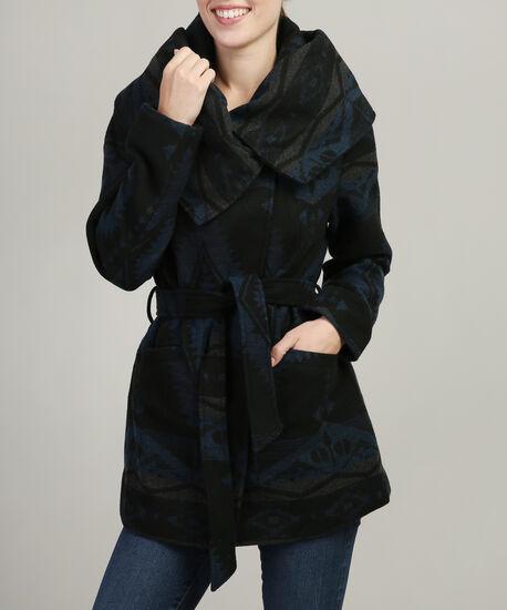 aztec belted wool coat - wb, NAVY AZTEC, hi-res