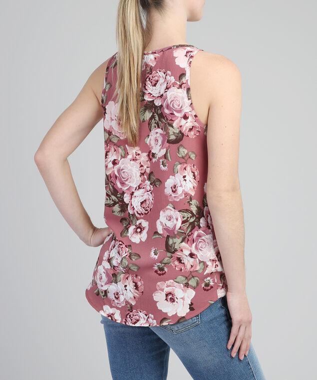 v-neck blouse - wb, PINK FLORAL, hi-res