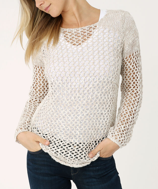 popover sweater - wb, TAUPE, hi-res