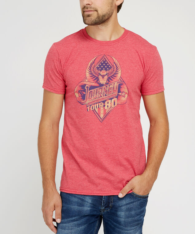 journey graphic tee, RED HEATHER, hi-res