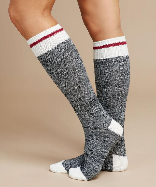knee high cabin socks f18, BLACK, hi-res