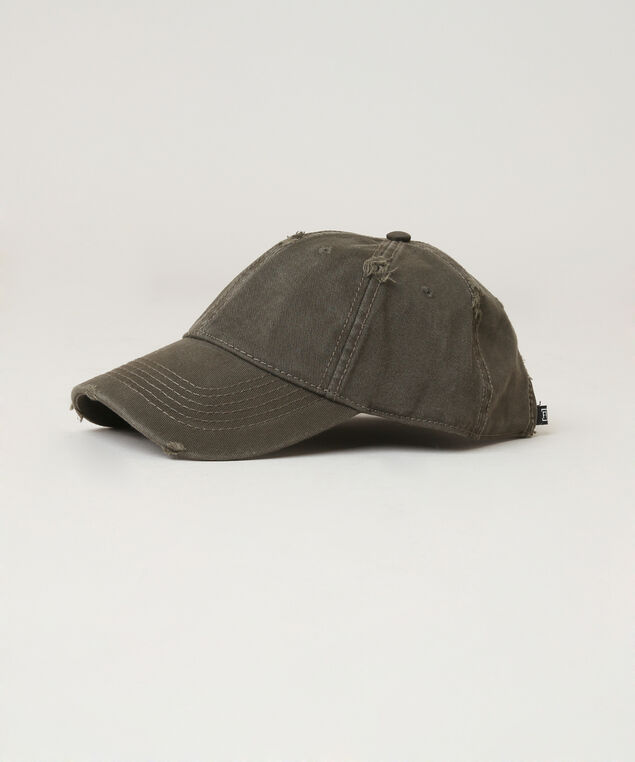 distressed ball cap , WASHED OLIV, hi-res