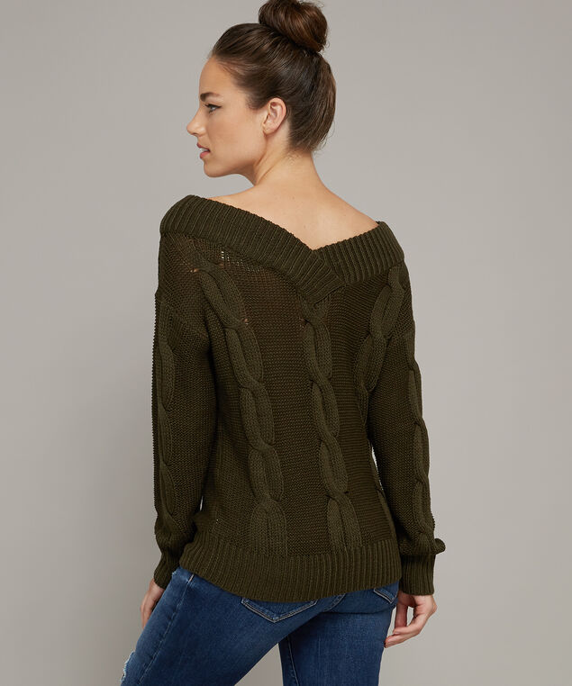 double v popover sweater - wb, GREEN PINE, hi-res