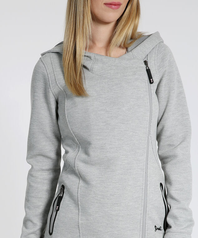 fleece hoodie - wb, HEATHER GREY, hi-res