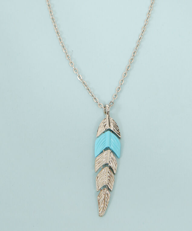 multi chain necklace with pendants, SILVER, hi-res