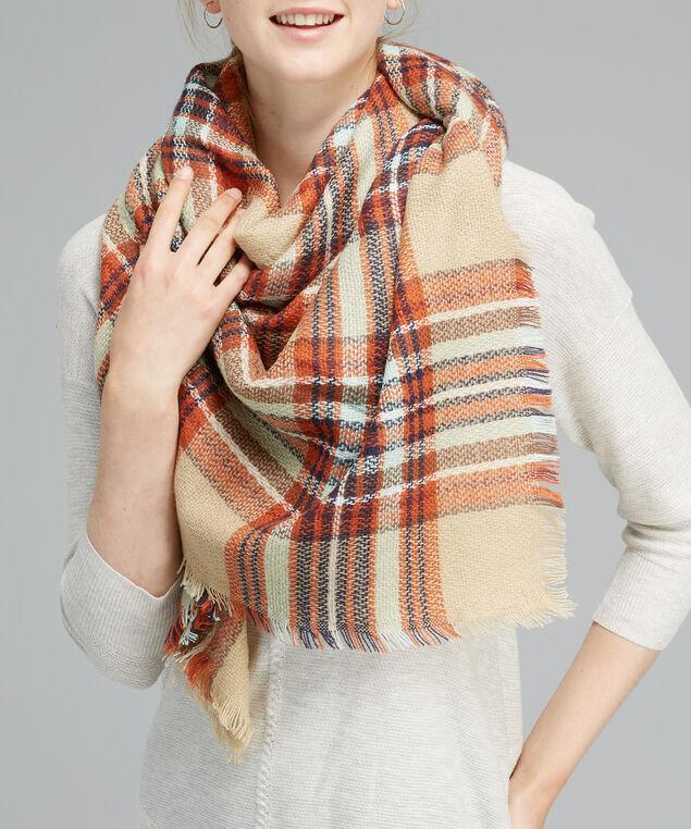 multi plaid scarf, TAUPE, hi-res