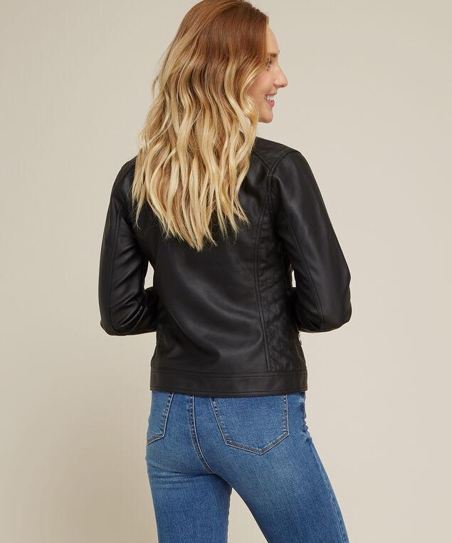 faux leather jacket - wb, BLACK, hi-res