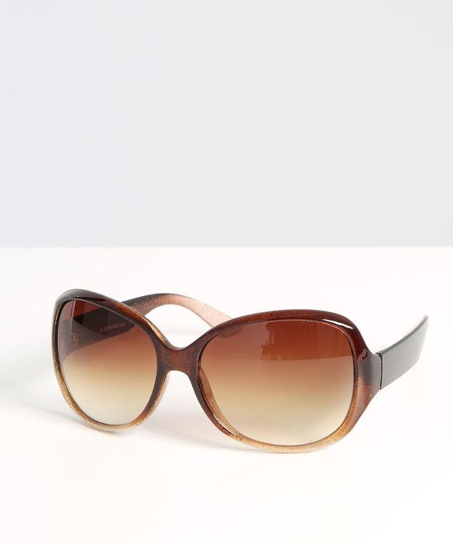 lightly sparkled sunglasses, BROWN, hi-res