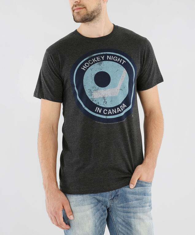 hockey night graphic tee, CHARCOAL HEATHER, hi-res