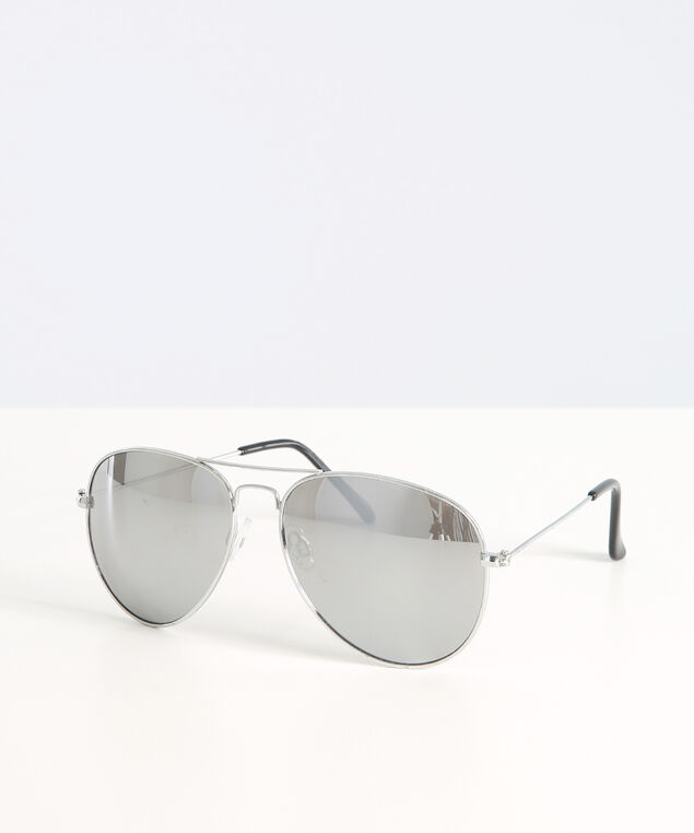 basic silver aviator, SILVER, hi-res