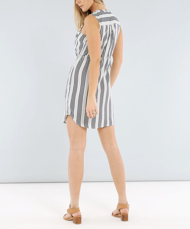 stripe shirt dress - wb, STRIPE, hi-res