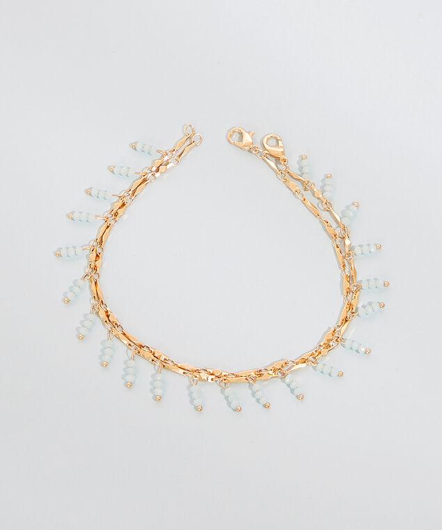 seed bead anklet set, GOLD, hi-res