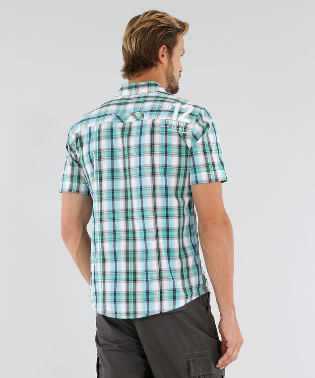 ethan plaid shirt, TURQUOISE MINT, hi-res