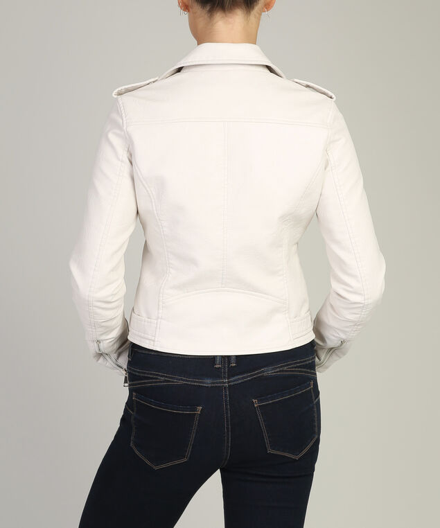 vegan leather jacket - wb, CREAM, hi-res