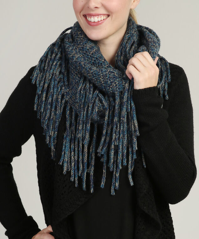 infinity long fringe scarf, BLUE COMBO, hi-res