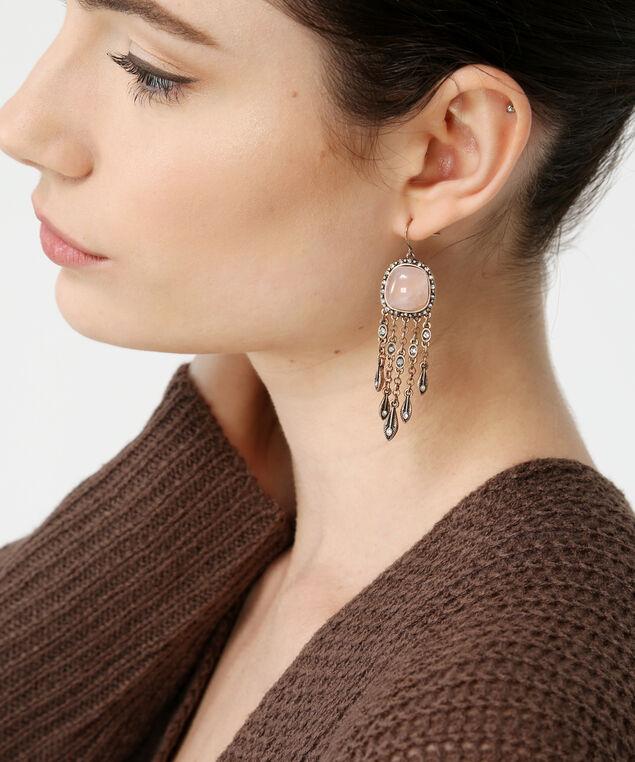 gold-tone fringe earrings, GOLD, hi-res
