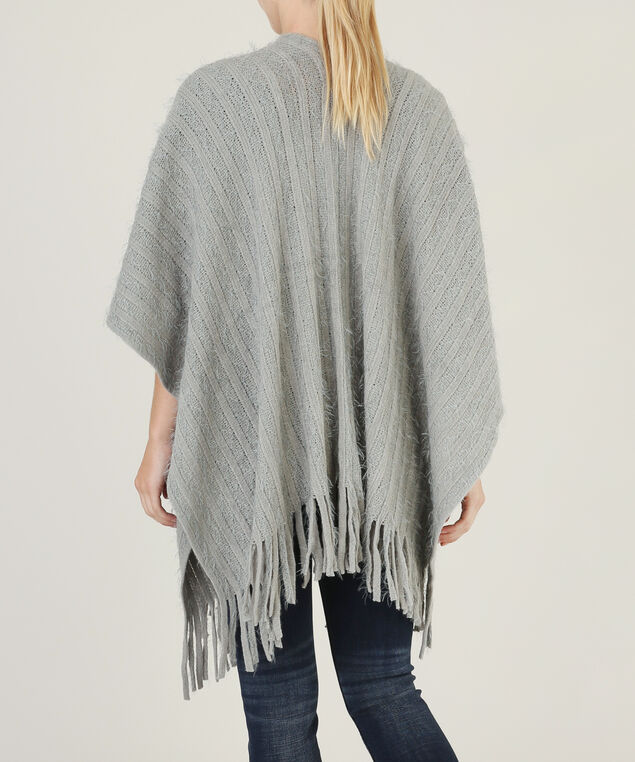 shawl with fringe hemline - wb, LT GREY, hi-res