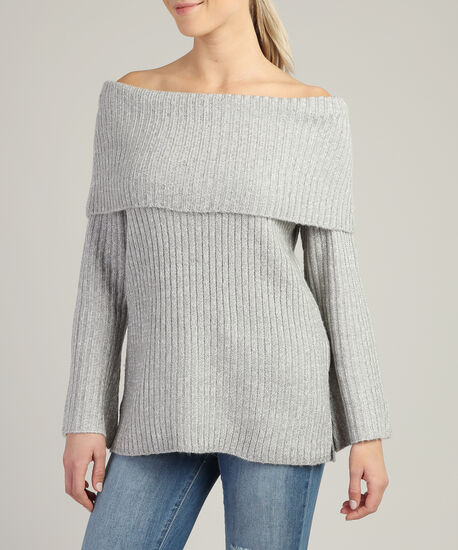 off the shoulder popover - wb, GREY, hi-res