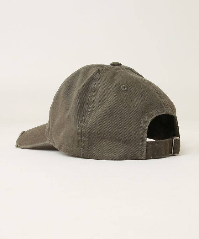 distressed baseball cap, WASHED OLIVE, hi-res
