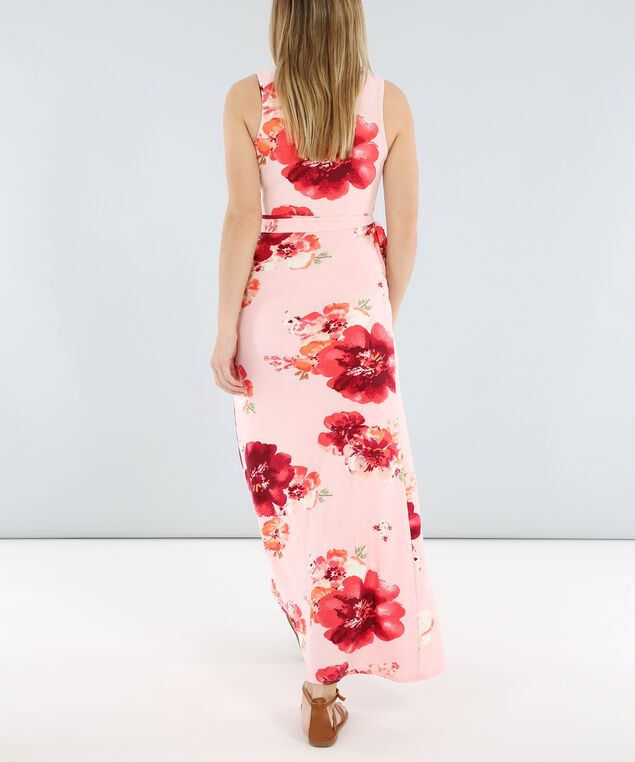 wrap maxi dress - wb, PINK FLORAL, hi-res