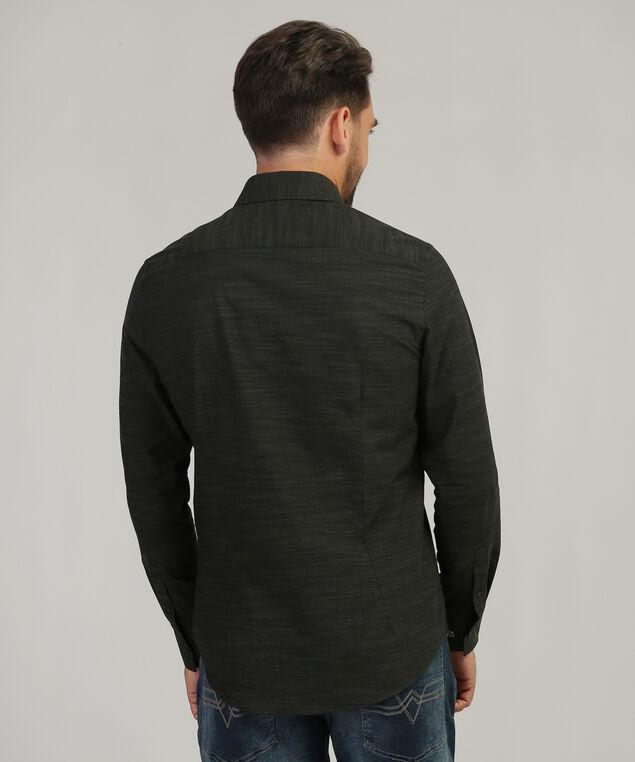 long sleeve dress shirt, OLIVE, hi-res