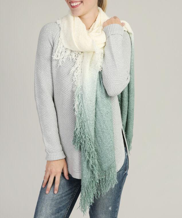 gradient colour nubby scarf, MINT MIX, hi-res