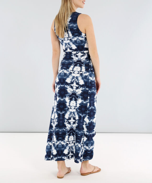 wrap maxi dress - wb, NAVYPATTERN, hi-res