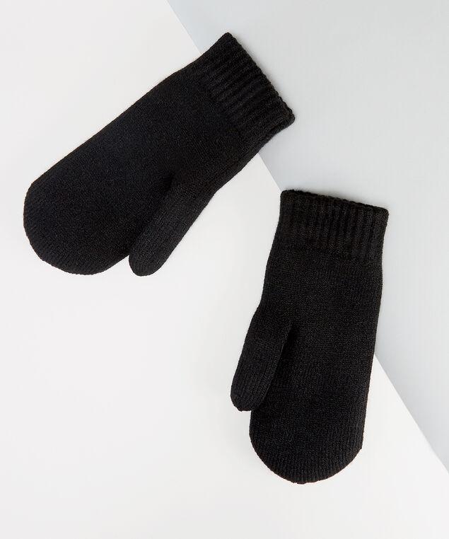 black pearl mitten, BLACK, hi-res